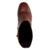 Bruine korte laarzen met hak