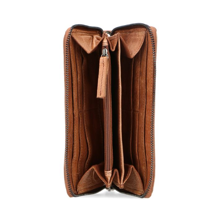 Cognac leren portemonnee