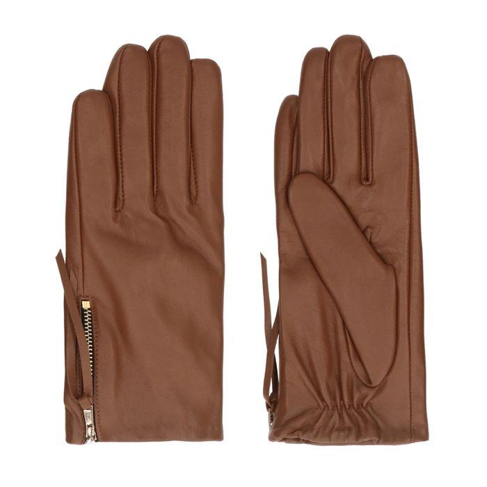 Cognac leren handschoenen