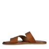 Cognac leren slippers