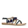 Donkerblauwe sandalen met details