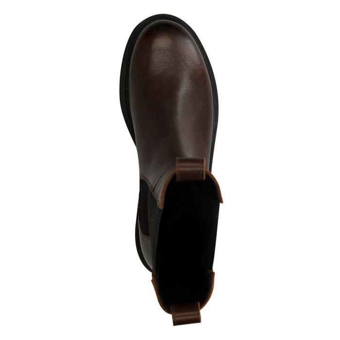 Donkerbruine leren chelsea boots