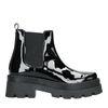 Zwarte chelsea boots van lakleer
