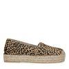 Cheetahprint espadrilles met platform