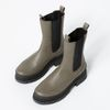 Khaki chelsea boots