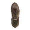 Khaki sneakers met suède details