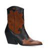Bruine western boots met zwarte details