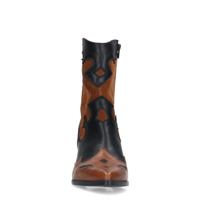 Bruine cowboylaarzen met zwarte details