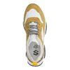 Gele platform sneakers met panterprint detail