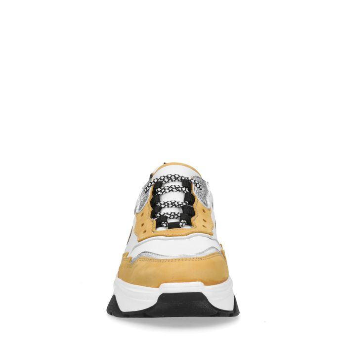 Dad sneakers met panterprint