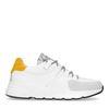 Witte dad sneakers met okergeel detail