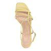 Gele leren sandalen met kitten heel