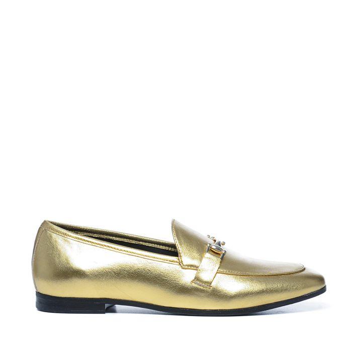 Gouden metallic loafers