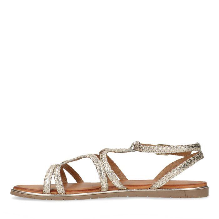 Goudkleurige sandalen
