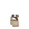 Goudkleurige leren plateau sandalen