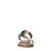 Goudkleurige leren sandalen