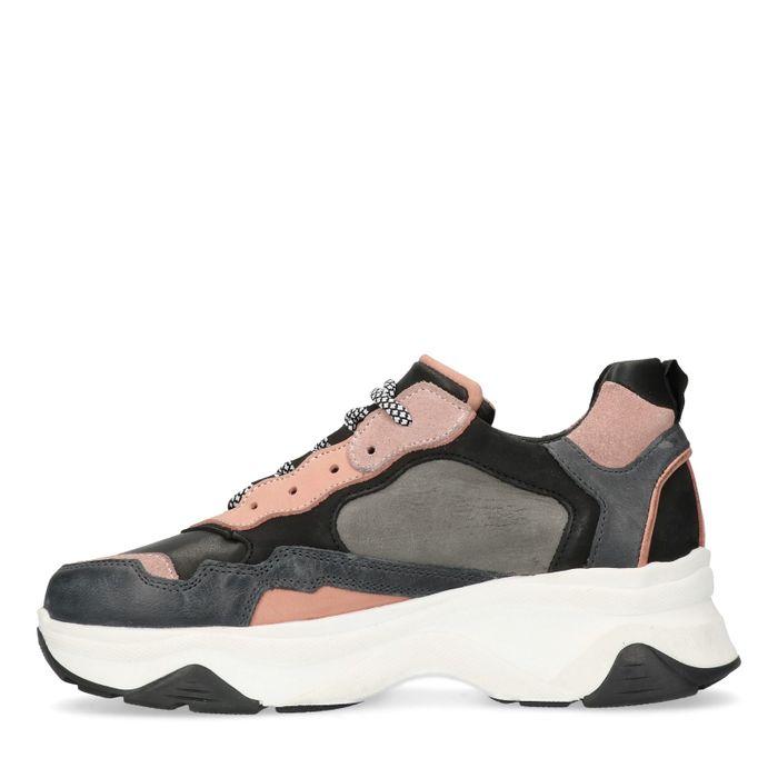 Dad sneakers grijs/roze