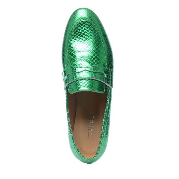 Groene loafers