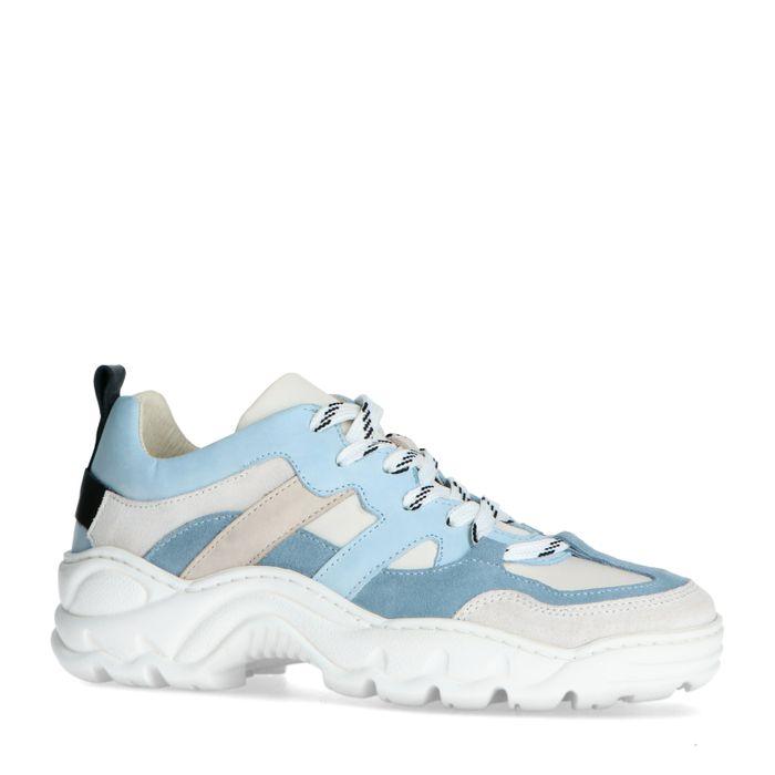 Lichtblauwe dad sneakers met details
