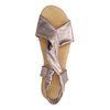 Metallic paarse sandalen