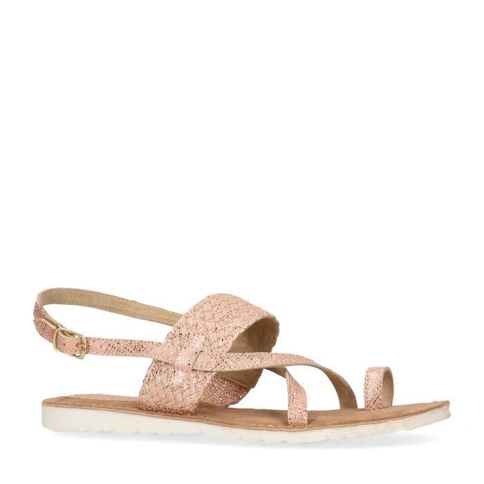 Licht roze glitter sandalen