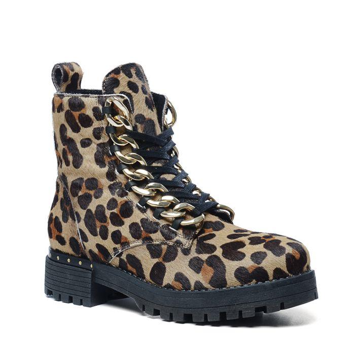 Panterprint biker boots