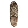 Bruine panterprint lage sneakers met details