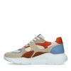 Multicolored leren sneakers