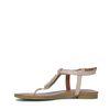 Nude leren sandalen