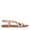 Beige sandalen van leer