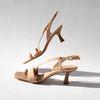 Nude sandalen met kitten heels