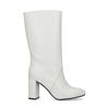 Witte laarzen met hak