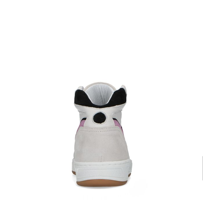 Halfhoge sneakers met lila detail