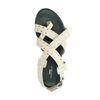 Off white leren sandalen met zilverkleurige studs