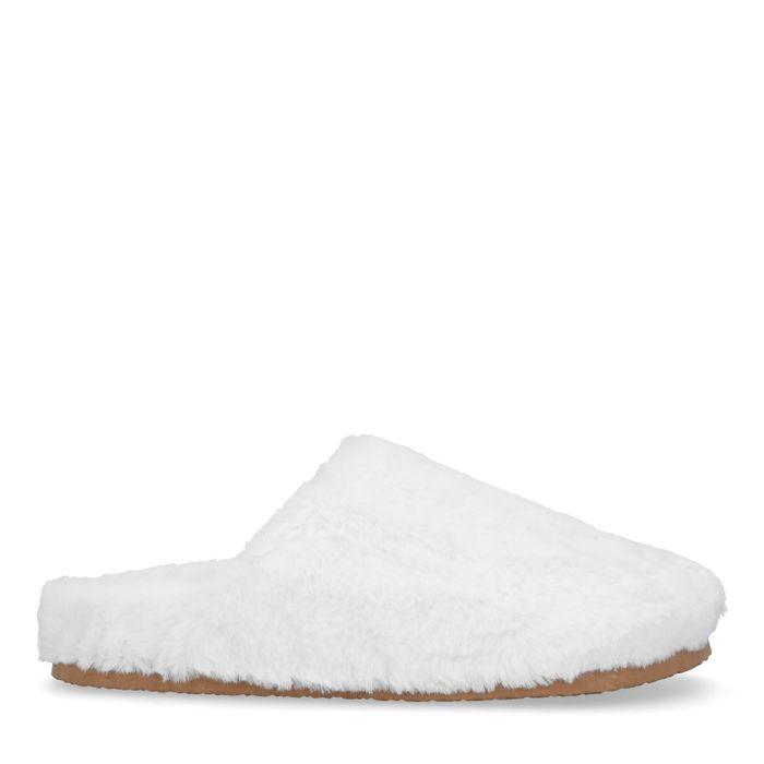 Off white wollen pantoffels
