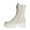 Off white leren veterlaarsjes