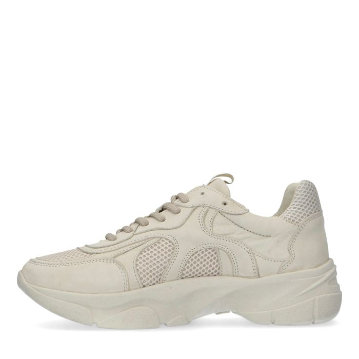 Off white leren dad sneakers