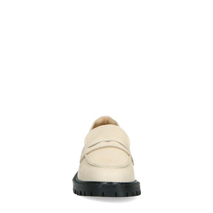 Latte leren loafers