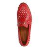 Rode loafers met zilverkleurige studs