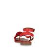 Rode sandalen met ruffles
