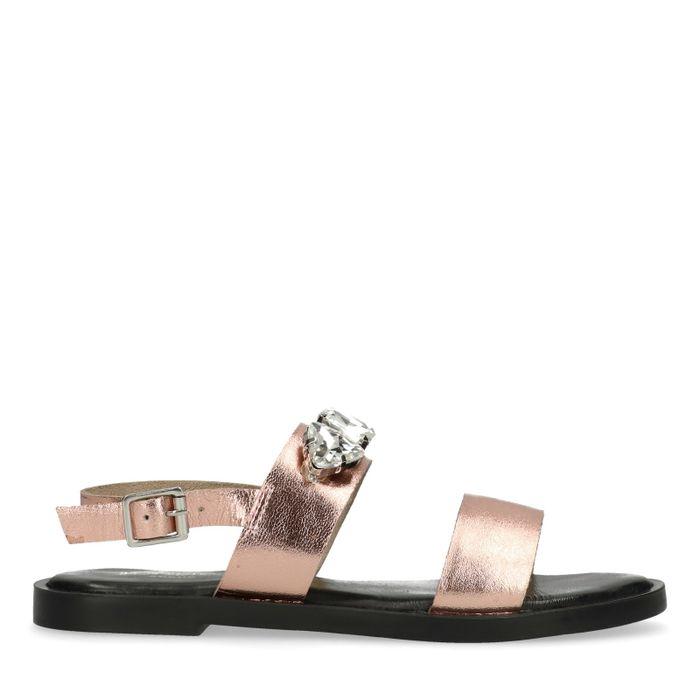 Rosé gouden sandalen met diamanten