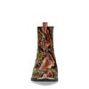 Bruine enkellaarsjes met snakeskin