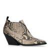 Beige chelsea boots met snakeskin
