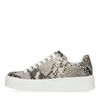 Snakeskin platform sneakers