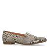 Snakeskin loafers