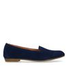 Donkerblauwe suède loafers