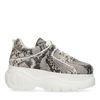 Grijze chunky sneakers met snakeskin