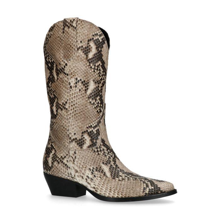 Cowboylaarzen met snakeskin