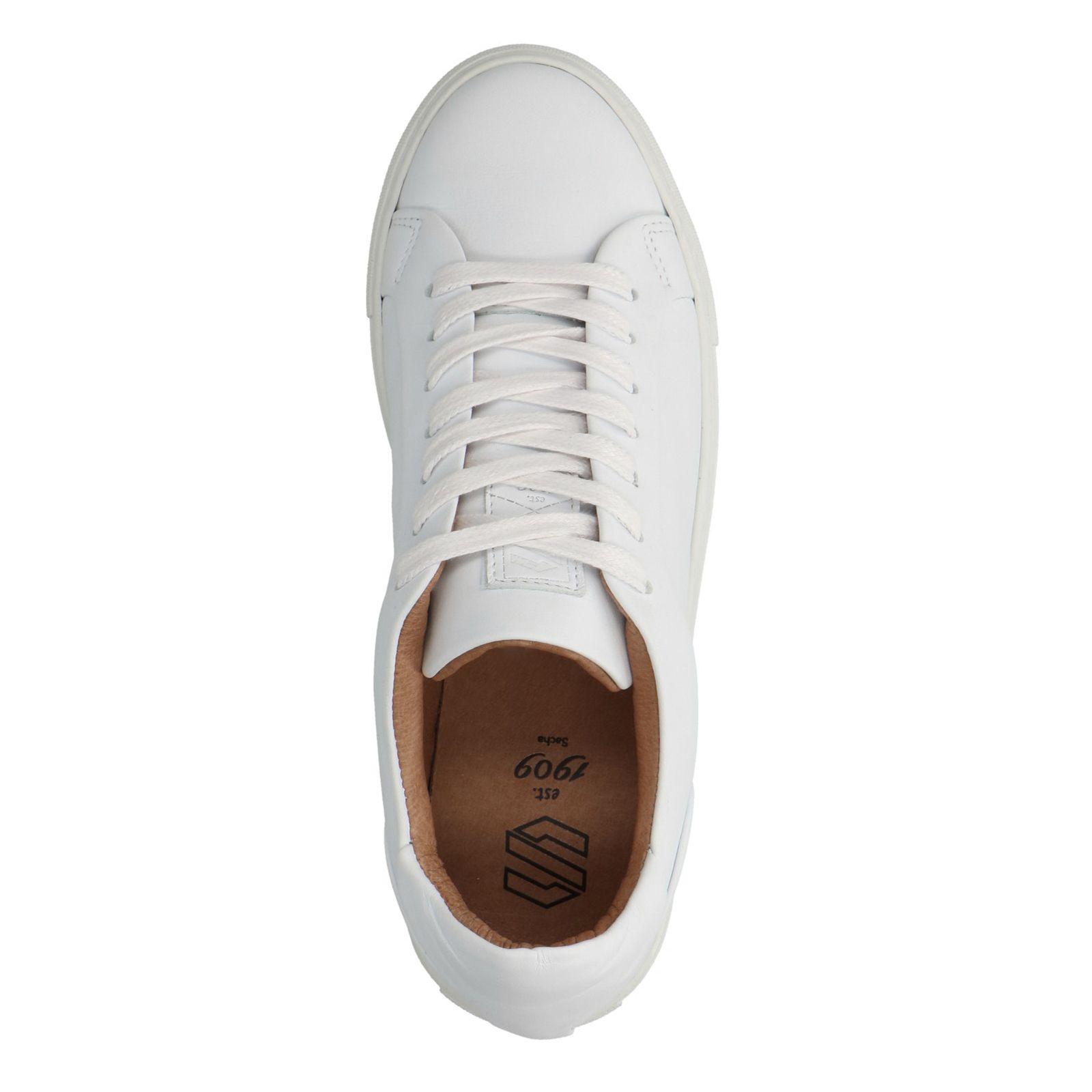 Sacha Witte leren lage sneakers