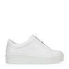 Witte lage sneakers met rits